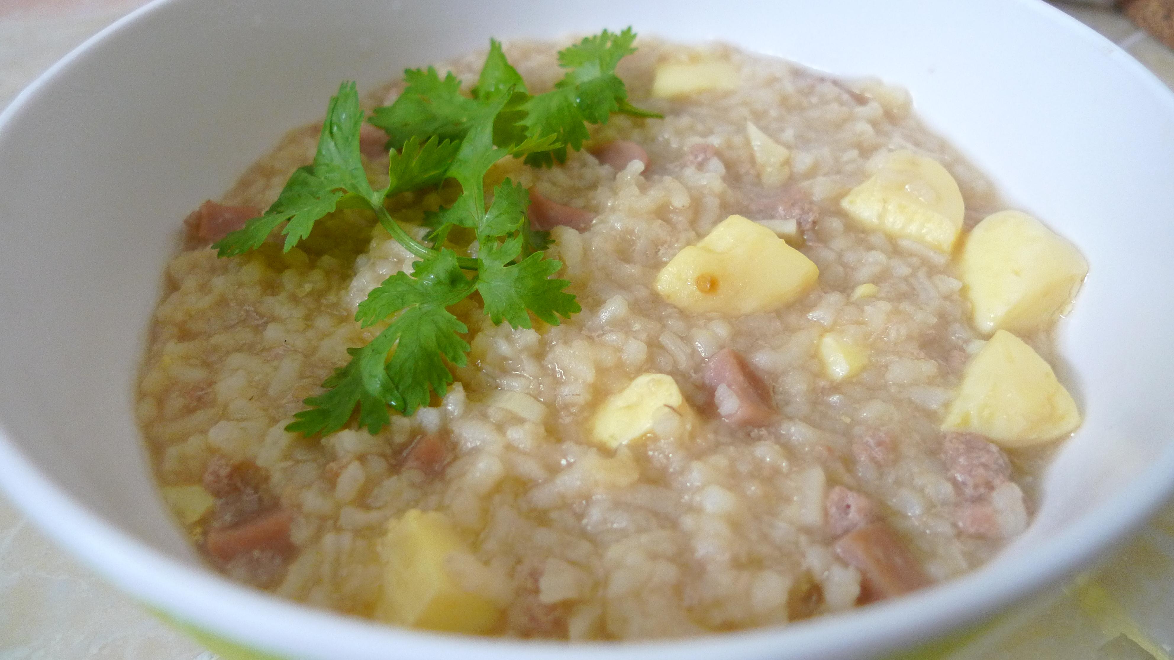 how to cook pork porridge